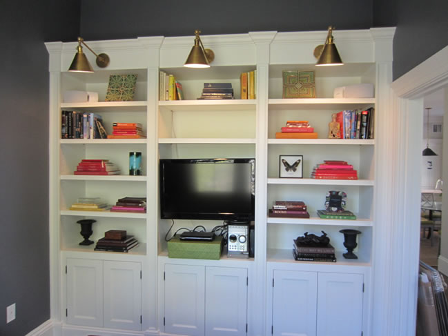 custom built ins - How To Make Custom Built In Bookshelves